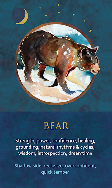 Bear Spirit Animal Oracle Print