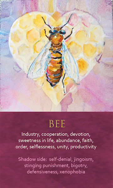 Bee Spirit Animal Oracle Print
