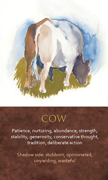 Cow Spirit Animal Oracle Print