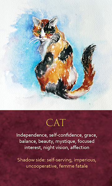 Cat Spirit Animal Oracle Print