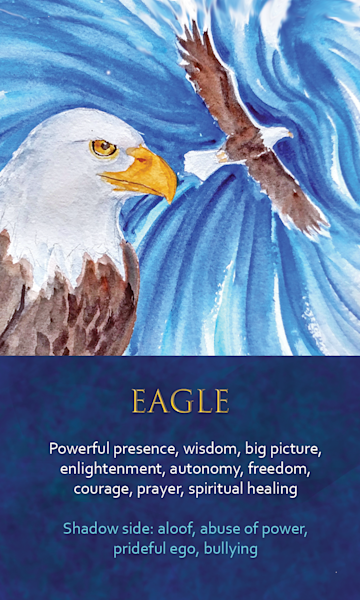 Eagle Spirit Animal Oracle Print