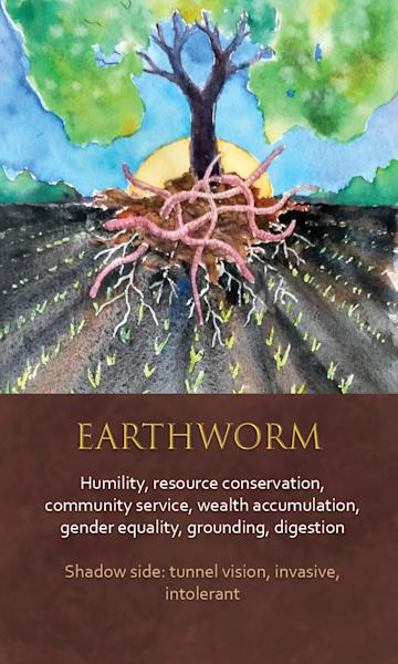 Earthworm Spirit Animal Oracle Print