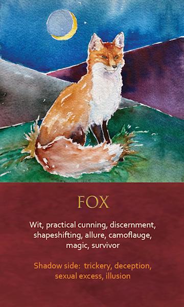 Fox Spirit Animal Oracle Print