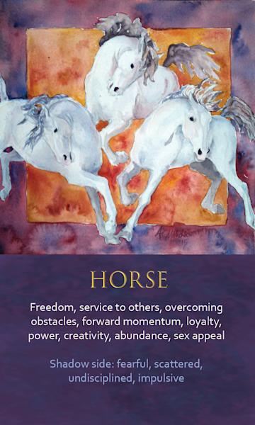 Horse Spirit Animal Oracle Print