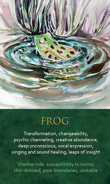 Frog Spirit Animal Oracle Print