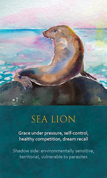 Lion Spirit Animal Oracle Print