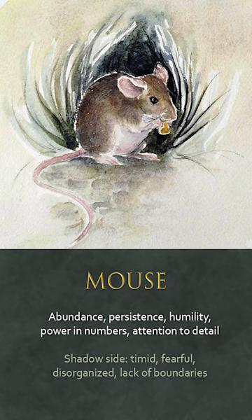 Mouse Spirit Animal Oracle Print