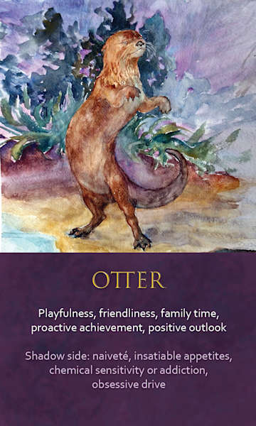 Otter Spirit Animal Oracle Print