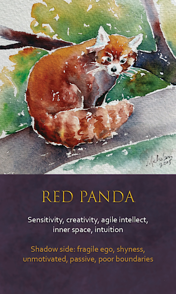 Panda Spirit Animal Oracle Print