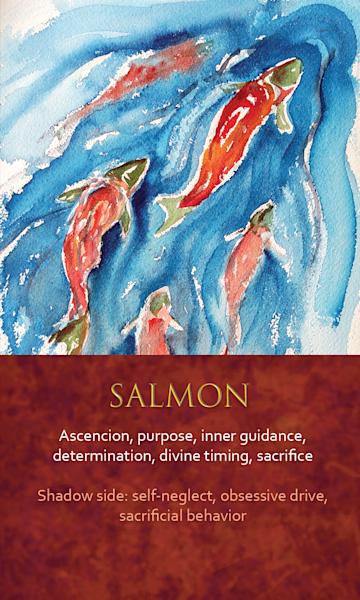 Salmon Spirit Animal Oracle Print