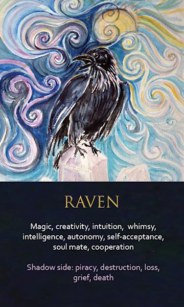 Raven Spirit Animal Oracle Print