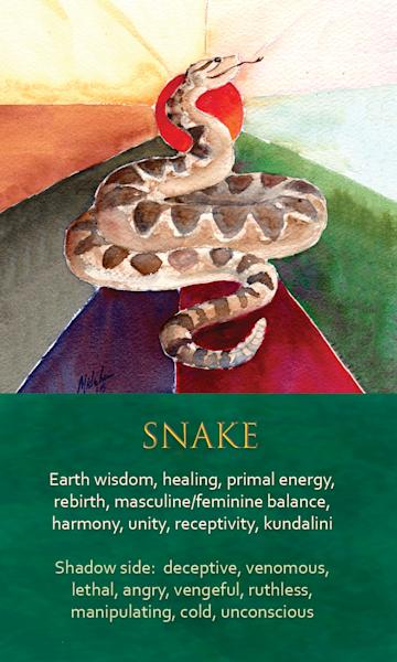 Snake Spirit Animal Oracle Print