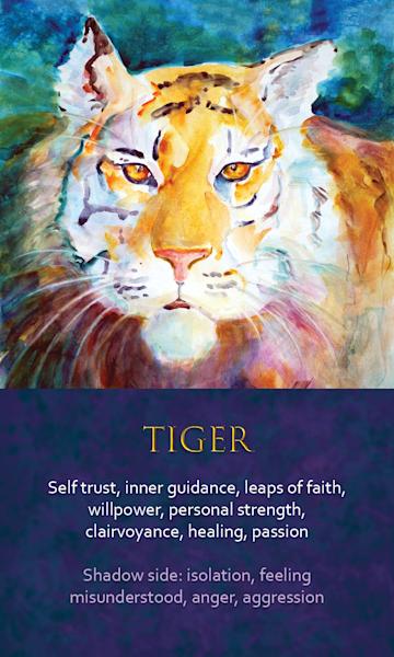 Tiger Spirit Animal Oracle Print