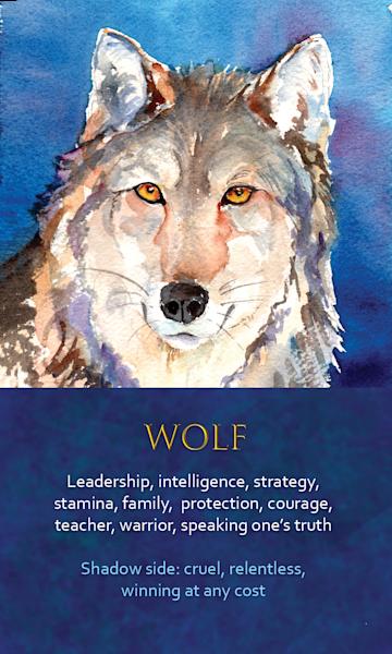 Wolf Spirit Animal Oracle Print