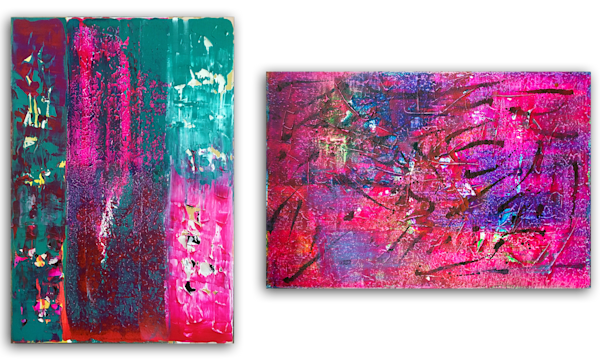 Power Couple large diptych painting