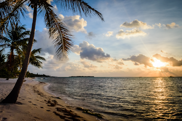 Entrancing Caribbean Sunset Beach Prints