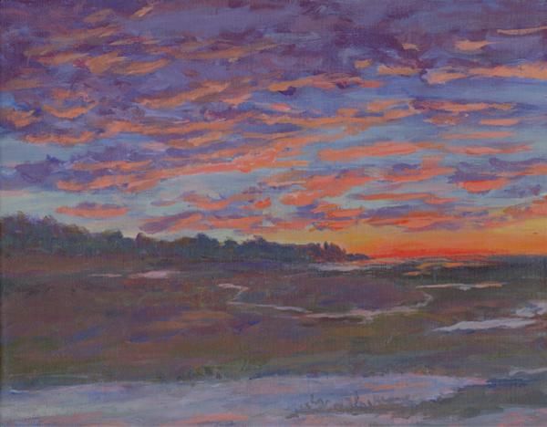 Mackerel Sky And Marsh Light Art | East End Arts