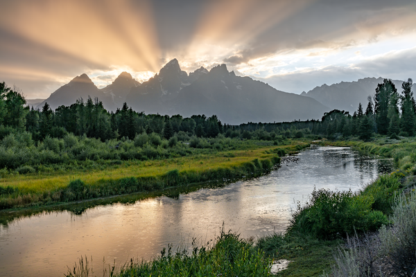 Schwabacher Landing, Grand Teton National Park, Wyoming, Snake River, Grand Tetons