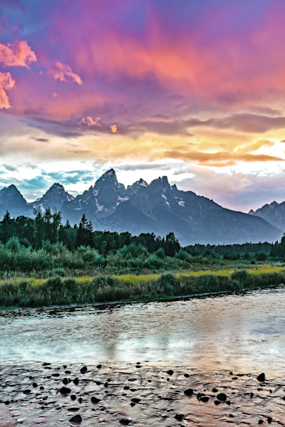 Teton mountain range, Jackson Hole, Yellowstone National Park, Wyoming