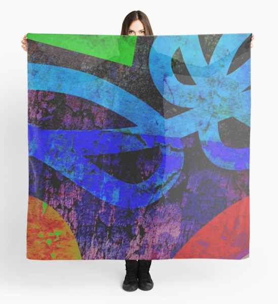 Abstract Bold Scarf | Marci Brockmann Author, Artist, Podcaster & Educator