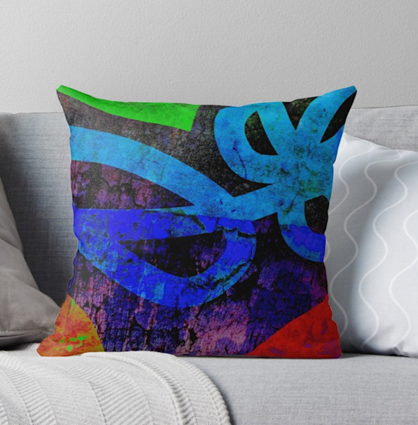Abstract Bold Pillow