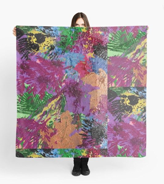 Floral Abstract Scarf | Marci Brockmann Author, Artist, Podcaster & Educator