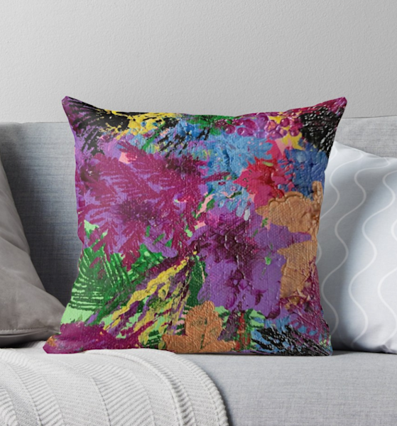 Floral Abstract Pillow