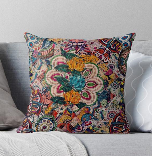 Floral Mosaic Pilow