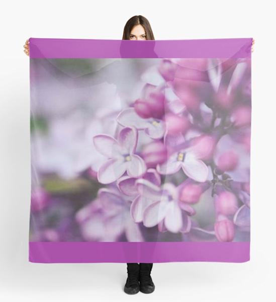Macro Lilacs Scarf