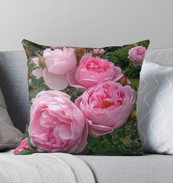 Pink Peonies Pillow