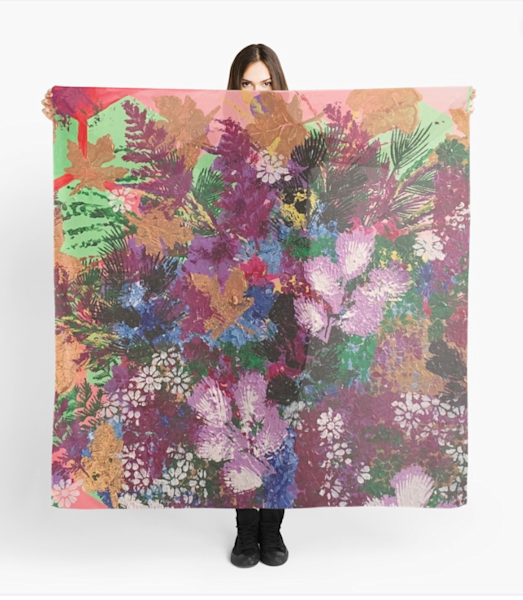 Riotous Flowers Scarf | Marci Brockmann Author, Artist, Podcaster & Educator