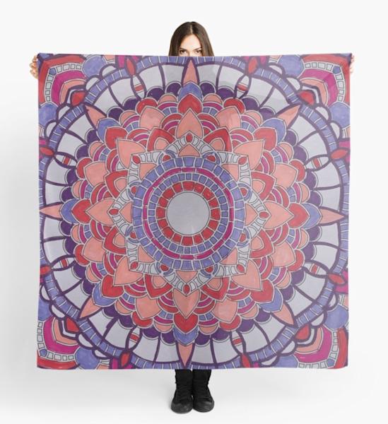 Valentine Mandala Scarf | Marci Brockmann Author & Artist