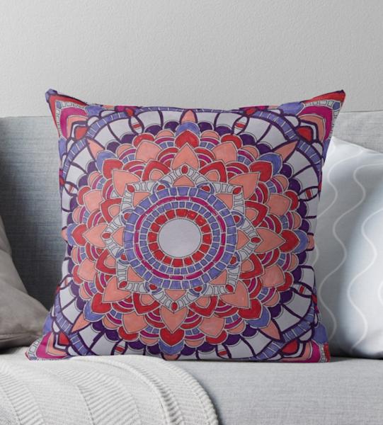 Valentine Mandala Pillow