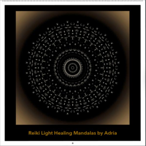 Healing Reiki Mandala Art Print  Wall Calendar.