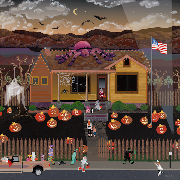 Halloween Trick Or Treating Family Fun Fine Art Prints