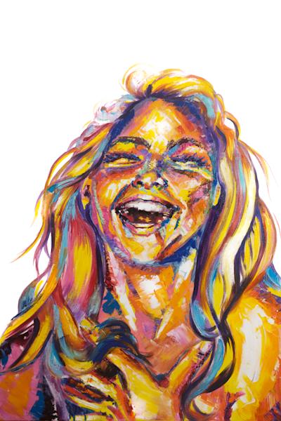 Laughter   Original Oil Painting Art | Becca Fox Art