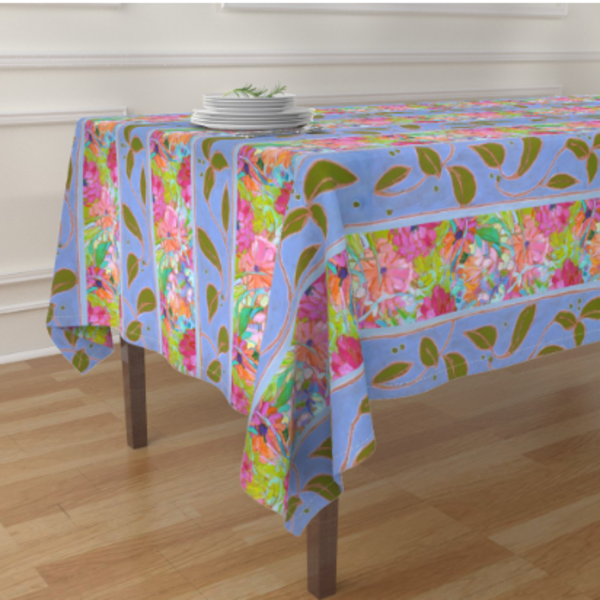 Wildflower Tablecloth, Napkins, Table Runner, Placemats by Dorothy Fagan