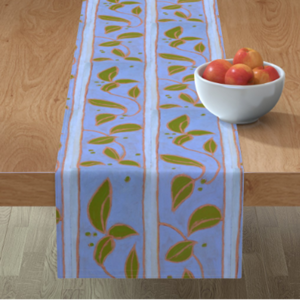 Provence Blue Table Linens by designer Dorothy Fagan
