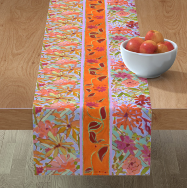 Pastel Wildflowers Table Linens by Dorothy Fagan
