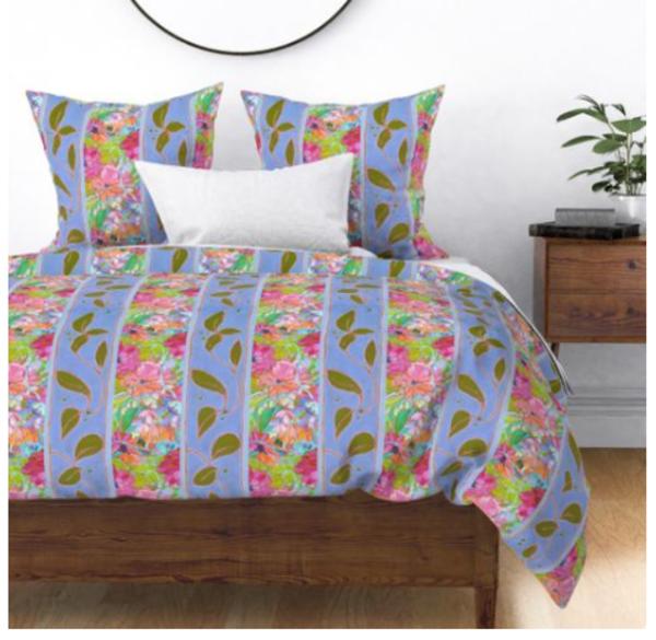 Blue Floral Bedroom Ideas by Dorothy Fagan