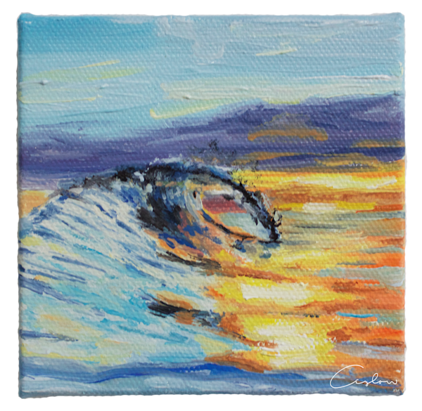 The Reward - Original Sunset Ocean Oil Painting