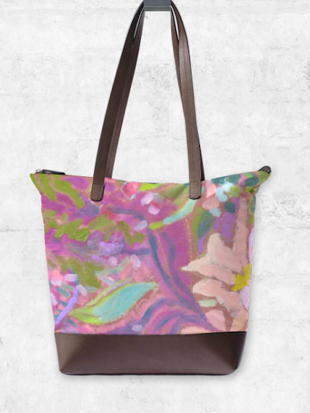 Colorful Floral Designer Statement Bags by Dorothy Fagan
