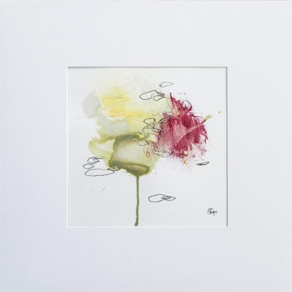 Red Accent V Art | Lisa Ridgers Fine Art