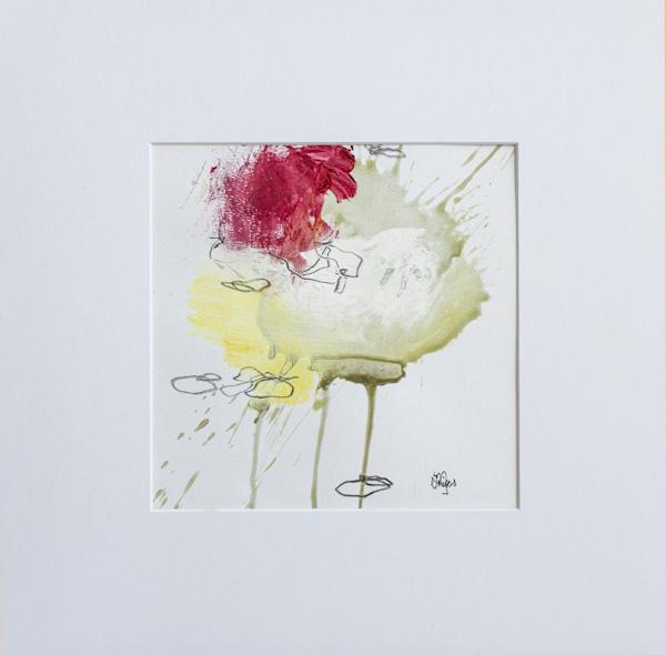 Red Accent Vi Art | Lisa Ridgers Fine Art