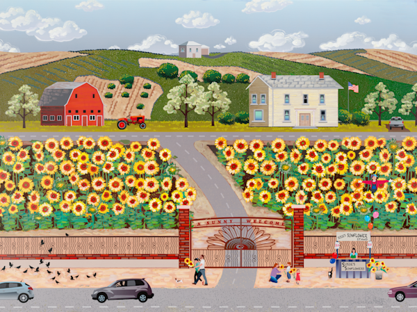 Sunflower Farm   Metal & Acrylic Prints Art | Julie Pace Hoff Gallery