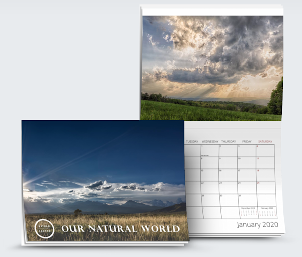 2020 Monthly Fine Art Landscape Calendar | Nathan Larson Photography | Colorful cloudscapes and images of nature.