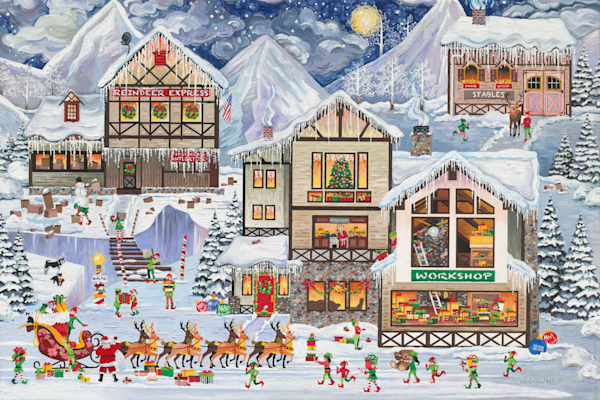 Christmas Santas Gifts Art Prints