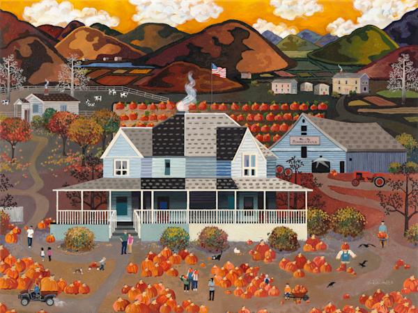 Finding, Autumn, Pumpkin,Patch, Farm , Art Prints