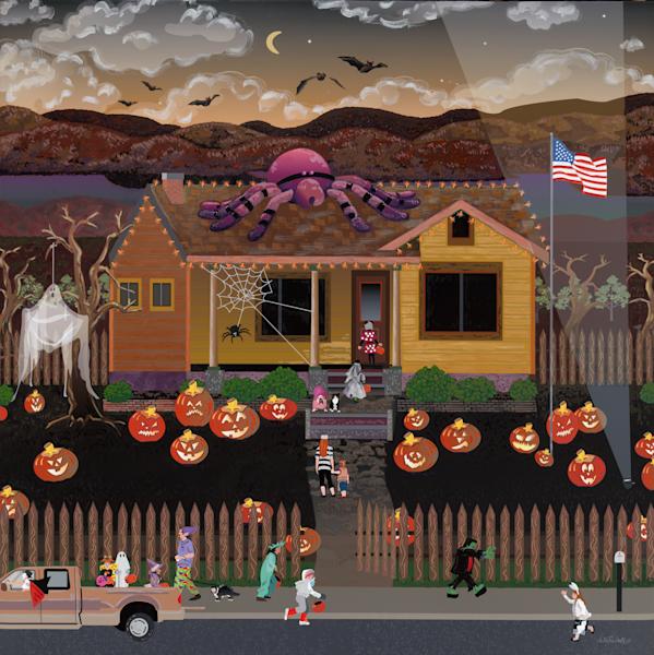 Halloween Trick Or Treating Family Fun Fine Art Prints