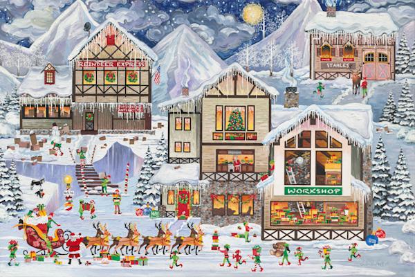 Christmas Santas Gifts Art Prints